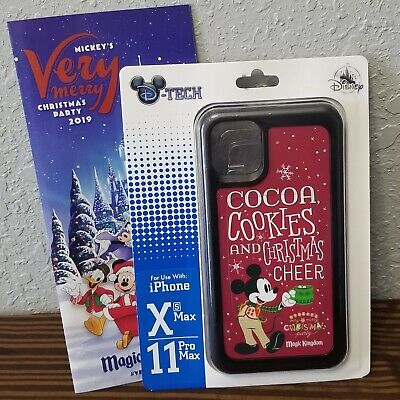 Disney Parks 2019 Mickey's Very Christmas Party iPhone Case Xs Max/11Pro Max New