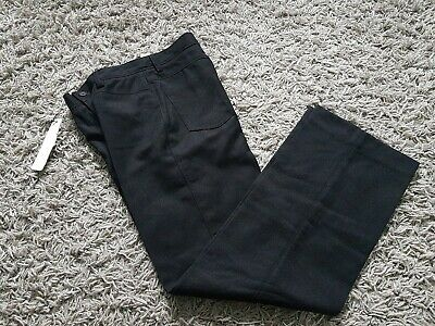 Red Herring Smart Black Trousers Boys Agec10 Bnwt Very Subtle Stripe, Barely See