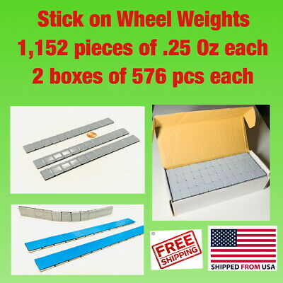 1,152 Pieces of Tire Balancing Wheel Weights Stick-On Adhesive 1/4 oz (.25)