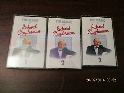 The Magic of Richard Clayderman Vol 1 -3  Music Cassettes (NEW)