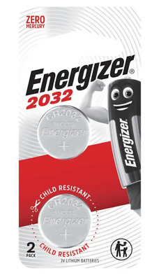 Energizer 2032 - 2 PACK 3V Lithium Coin/Button Cell Batteries  Zero Mercury