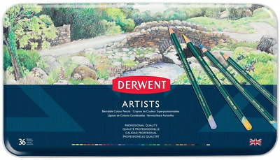 Derwent Artists Colouring Pencils, Set of 36, Professional Quality, 32096,