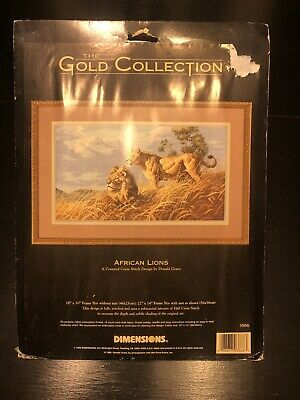 Dimensions Counted Cross Stich the Gold Collection African Lions 03866 NEW