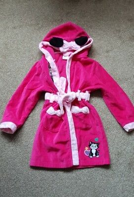 Girls Disney Store Minnie mouse Dressing Gown Age 5-6 Years