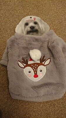 Accessorise Pets Christmas Rudolph The Red Nose Reindeer Dog Jumper Size Small