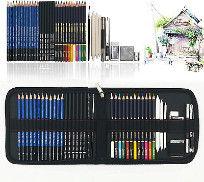 Drawing Pencils for Artists, 41PC Art Colouring Pencils, Sketch Pencils Set with