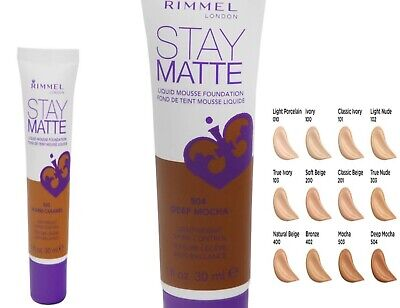 Rimmel stay matte liquid mousse foundation 30 ml please  choose your  shade