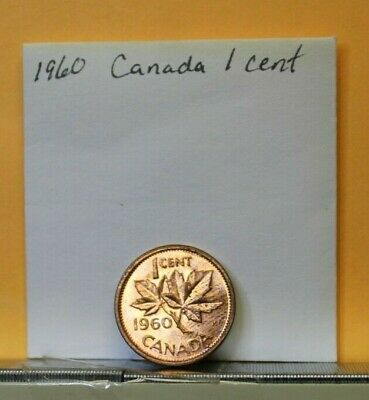 1960 Canada 1 cent coin KM#49 Bronze Wt 3.2400g dia 19.10mm