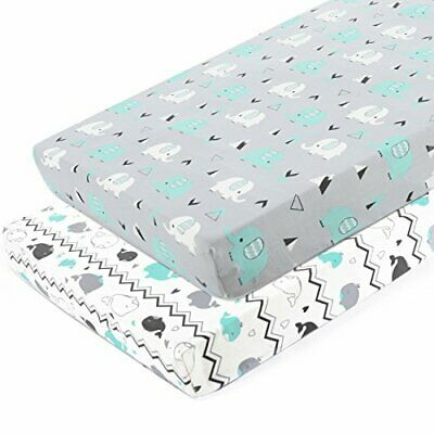 Pack n Play Stretchy Fitted Pack n Play (Playard Sheet|grey teal animal)