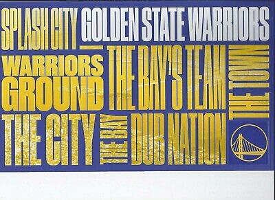 Golden State Warriors 2019-2020 NBA Official Ticket Stub All Games New Mint