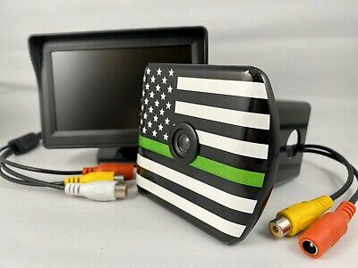 5.8GHz Wireless Trailer Hitch Backup Car Truck Rear View Camera LCD Monitor New