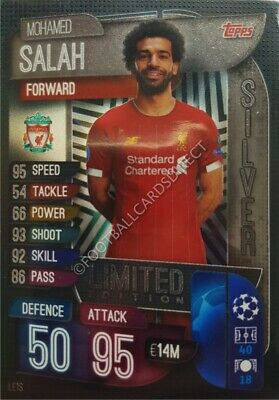 Match Attax 2019/20 Limited Edition Mohamed Salah Liverpool Silver Le1S
