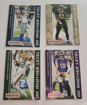 2019 Rookies and Stars On Another Level Insert singels, upick -lamar, brady