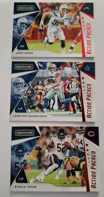 2019 Rookies and Stars Action Packed Insert singels, upick