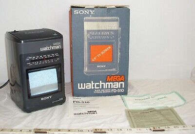 Sony Mega Watchman Fd-510 Tv Am/Fm Radio Boombox Combo Boxed