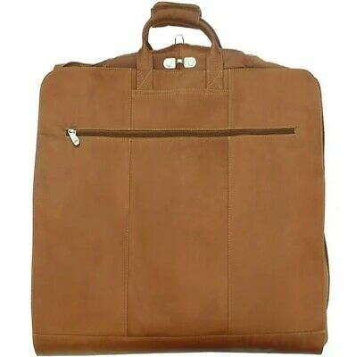 BRAND NEW~PIEL 100% Columbian Leather Garment Bag/Suit Cover Carry-on~~Saddle