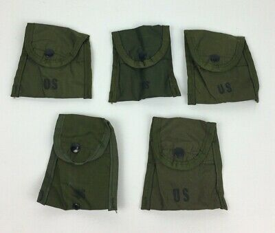 NWT Lot of 2 US Army Surplus OD Green First Aid Field Case Compass Utility Pouch