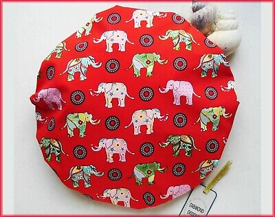 Shower Cap Elephants Bath Shower Soft Comfortable Cotton Outer Hair Care UK Gift
