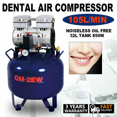Dental Air Compressor Silent Oilless Noiseless  Oil Free Air Compressor 32L 850W