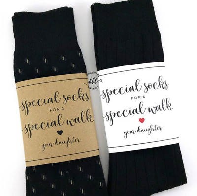 Special walk Father of the Bride Wrapper Wedding Socks Wrapper Label