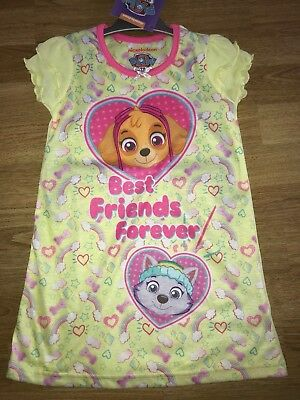 BNWT Girls Paw Patrol Yellow Pink Skye Everest Nightie Nightdress Age 3-4 yrs