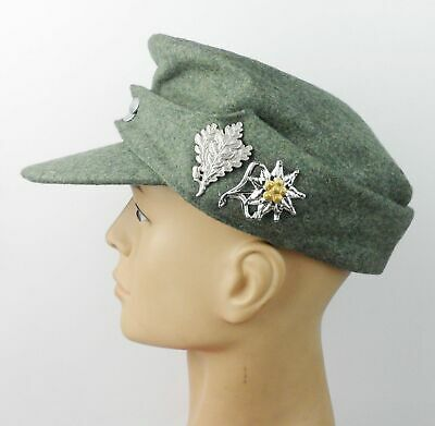WWII GERMAN ARMY  ELITE M43 SWAMP CAMO FIELD CAP MILITARY HAT SIZE L