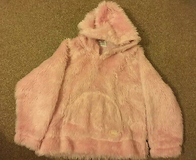 Girls, Next, Pink, Fluffy, Cotton Lined, Hoodie. Age 9yrs