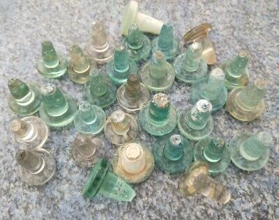 Vintage BULK LOT 30 glass bottle stoppers
