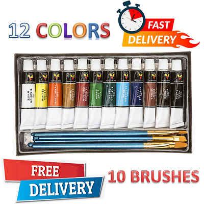 New Acrylic Paint Set Drawing Painting Art Kit, Kids Teens Adults Professional