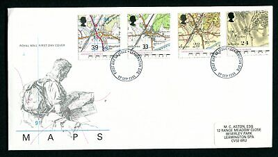 1991 GB FDC. Ordnance Survey. Maps of Hamstreet. Leamington Spa First Day Cover