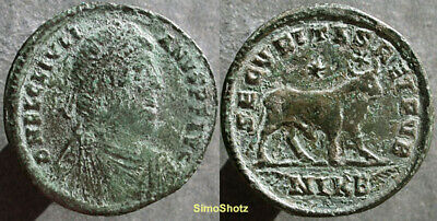 "Ancient Roman Coin - Large Bronze of Julian II, (""the Apostate"") - Bull Reverse"