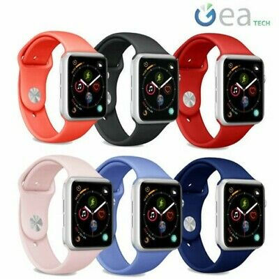 Puro 2x Correa Icono de Silicona 42-44mm para Apple Watch Serie 5 4 3 2 1 Sm-Ml