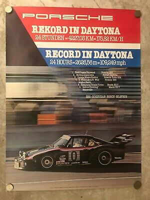 1979 Porsche 935 Record in Daytona Showroom Advertising Poster RARE!! Awesome