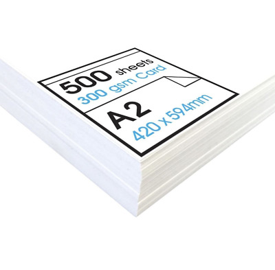 Artway« Studio 'High' White Card - A2-300gsm - Ideal for Presentation Display, -