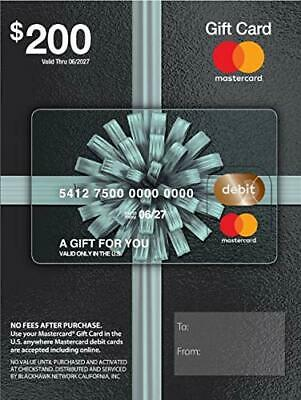 $200 Gift Card Activated, USE ANYWHERE in US No Fee NONReloadable, No Expiration