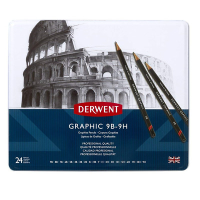 Derwent 34202 Graphic Full Set Graphite Drawing Pencils, Professional Quality,