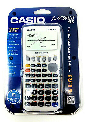 Casio fx-9750GII Graphing Calculator Brand New Factory Sealed Packaging #6050