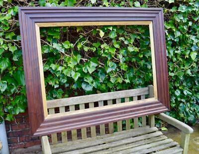 "SUPERB ANTIQUE VICTORIAN CUBAN MAHOGANY PICTURE FRAME 43"" x 30"" REBATE HONDURAN"