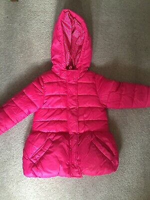 Girls pink marks and spencers winter coat size 1.5-2 years