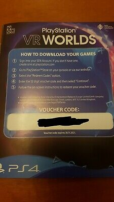 Playstation VR Worlds Voucher