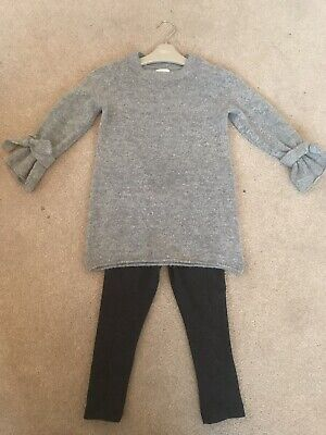 Next Girls Grey Outfit Jumper & Leggings  - Size Age 3 - *BRAND NEW*