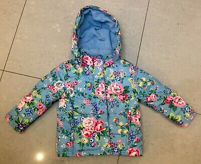 CATH KIDSTON - CATH KIDS - Warm Blue Floral Girls Padded Coat Jacket 2 - 3 Year