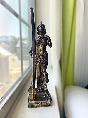Cleopatra with Egyptian Harp Statue Sculpture Figurine