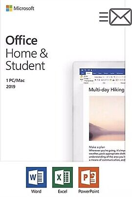 Microsoft Office Home and Student 2019 1 Device PC Win 10 or MAC