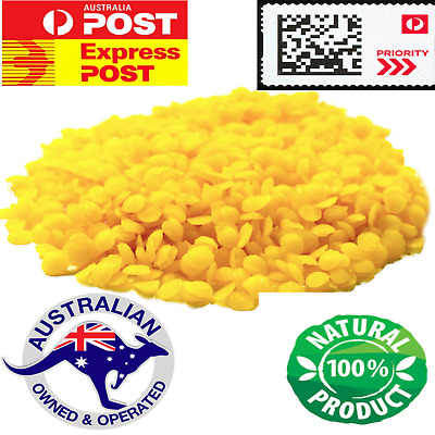 100G 100% Pure Beeswax Pellet Aussie Bees wax Natural for Candle Lip Balm