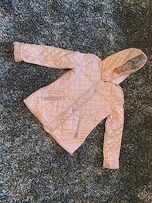 Immaculate Worn Once - Next Pink Coat - Quilted - Age 14 Years