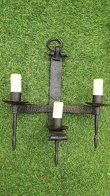 antique lamp Wall wrought iron Sconces applied light medieval Gothic French