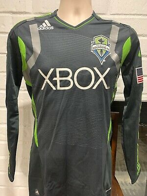 Adidas TECHFIT Seattle Sounders 2011/12 Away Jersey Authentic Long Sleeve NEW