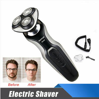 Mens Electric Shaver Wet Dry Rotary Washable Rechargeable Cordless Razor IPX7