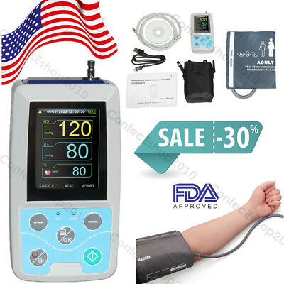24H NIBP Holter Ambulatory Blood Pressure Monitor, USB PC Software,FDA CE,USA